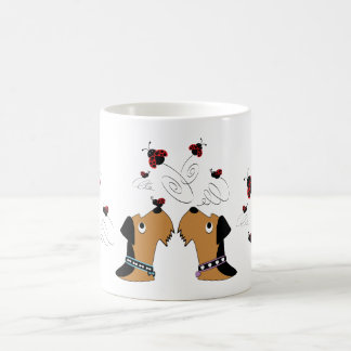 Airedales and Ladybirds Coffee Mug