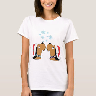 Airedales and Snowflakes T-Shirt