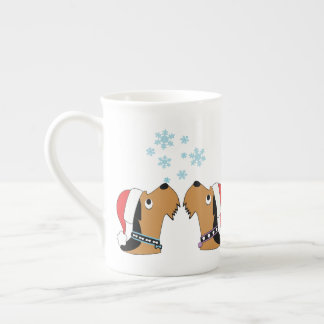Airedales and Snowflakes Tea Cup