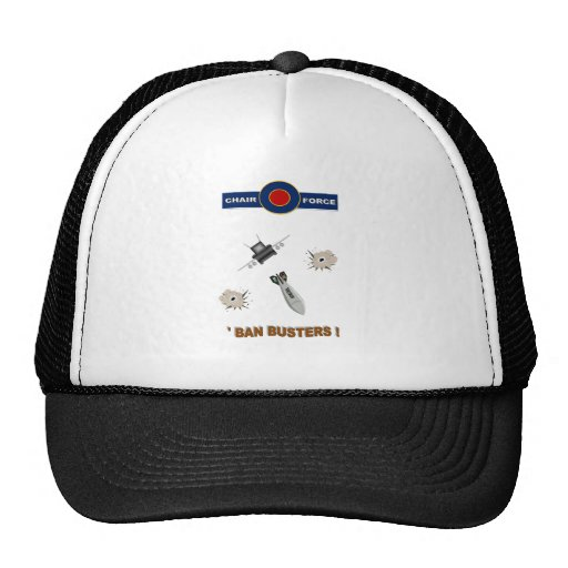 AIRFORCE - CHAIRFORCE  BAN BUSTERS TRUCKER HATS
