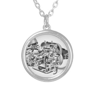 Airhead Cutaway Silver Plated Necklace