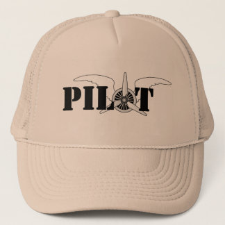 Airline Pilot Aircraft Engine and Wings Graphic Trucker Hat