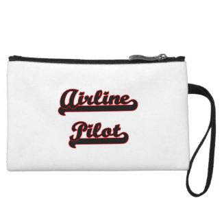 Airline Pilot Classic Job Design Wristlet Clutches