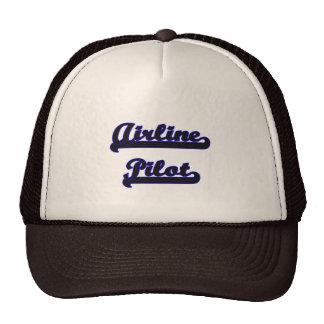 Airline Pilot Classic Job Design Trucker Hat