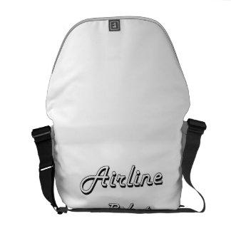 Airline Pilot Classic Job Design Courier Bag