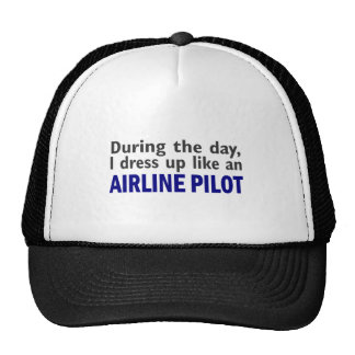 AIRLINE PILOT During The Day Hats