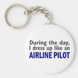 AIRLINE PILOT During The Day Keychain