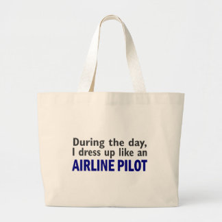 AIRLINE PILOT During The Day Tote Bag