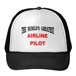 Airline pilot hat