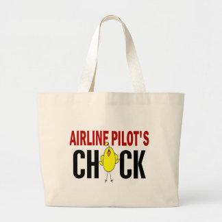 Airline Pilot's Chick Canvas Bags