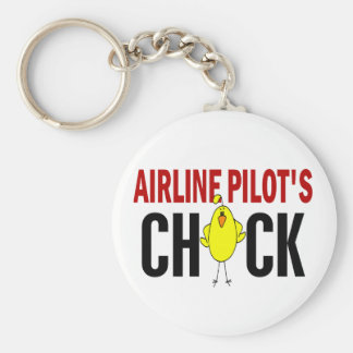 Airline Pilot's Chick Keychains
