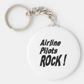 Airline Pilots Rock! Keychain