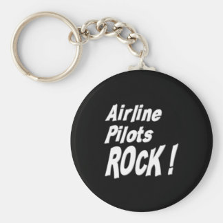 Airline Pilots Rock! Keychain