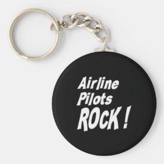 Airline Pilots Rock Keychain