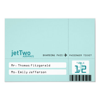 Airline Ticket Tented Seating Card