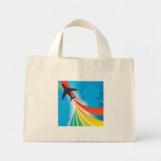 Airline Vacation Travel Abstract Halftone Bag