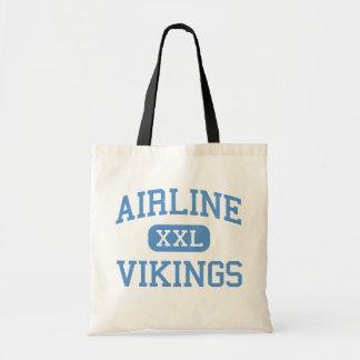 Airline - Vikings - High - Bossier City Louisiana Canvas Bags