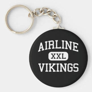 Airline - Vikings - High - Bossier City Louisiana Basic Round Button Key Ring