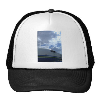Airliner-cockpit-with-clouds-in-background Mesh Hat