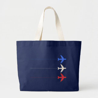 airlines airplanes jumbo tote bag