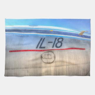 Airlines Ilyushin IL-18 Tea Towel