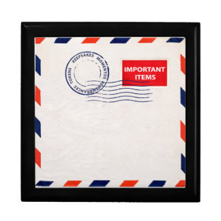airmail envelope gift box