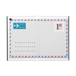 Airmail envelope with copy space for address iPad mini cover