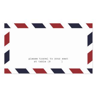 Airmail Escort Card Business Card Template