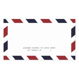 Airmail Escort Card Business Card Template