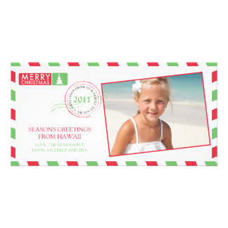 Airmail Holiday Greeting Card Photo Card Template