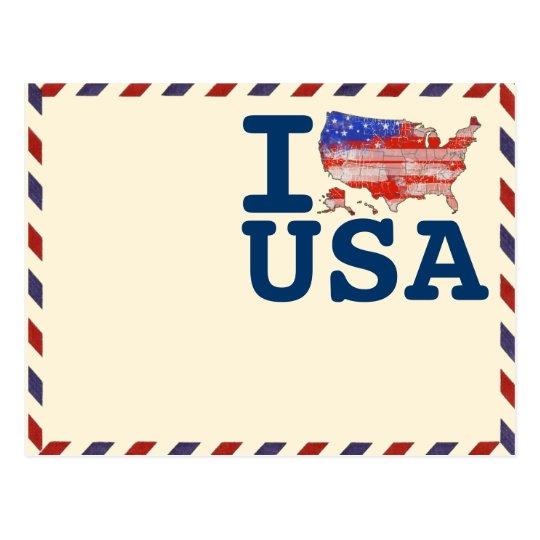 airmail IloveUSA Postcard