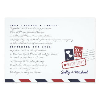 Airmail Love Letter Personalized Note Invitation