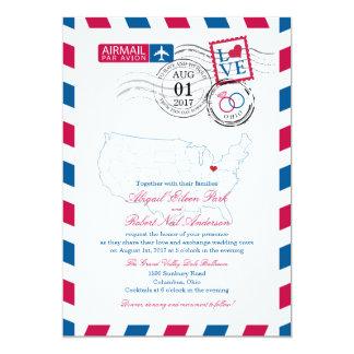 Airmail Ohio Wedding Card