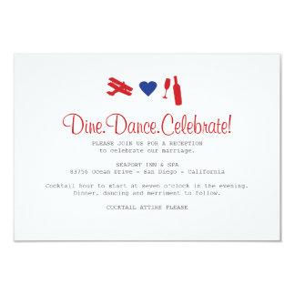 "Airmail Reception Card 3.5"" X 5"" Invitation Card"