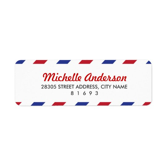 Airmail Return Address Labels