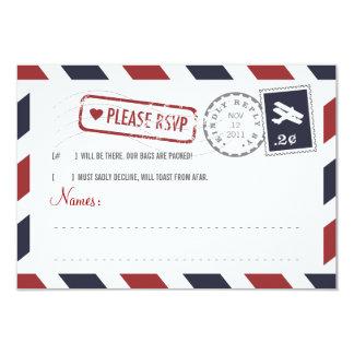 Airmail RSVP Card 9 Cm X 13 Cm Invitation Card