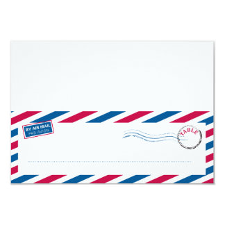 Airmail Tented Seating Card
