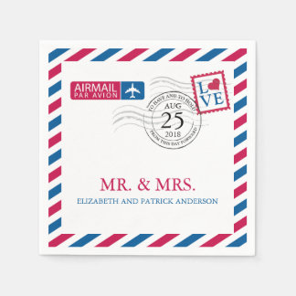 Airmail | Wedding Reception Disposable Napkin