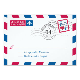 Airmail | Wedding RSVP Card