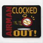 Airman Clocked Out Mousepad