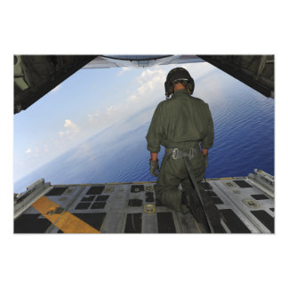 Airman observes the waters of the Gulf of Mexic Art Photo
