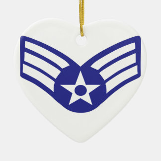 Airman Senior Class USA Airforce Ceramic Heart Decoration
