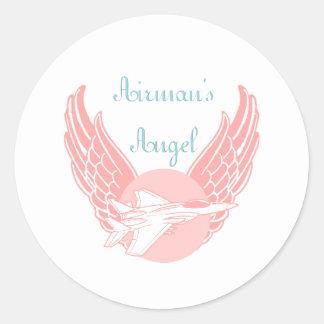 Airman's Angel Round Sticker