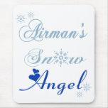 Airman's Snow Angel Mousepad