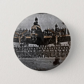 Airmen on an Avro Lancaster 6 Cm Round Badge