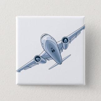 Airplane 15 Cm Square Badge