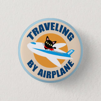 Airplane 3 Cm Round Badge