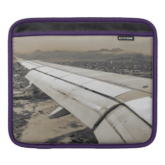 Airplane Arriving to Small Town iPad Sleeve