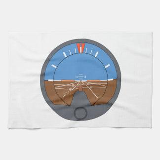 Airplane Attitude Indicator Hand Towels