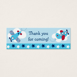 Airplane Aviator Goodie Bag Tags Gift Tags